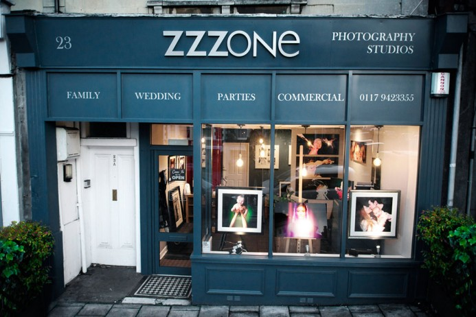 Zzzone front of shop