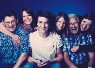 Image of a large family portrait taken in Bristol