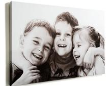 Canvas wrapped family portrait photograph