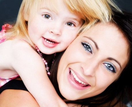 mother and daughter portrait photo