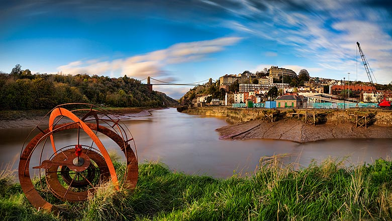 Avon Gorge, Clifton Suspension Bridge and Navigation Bouy
