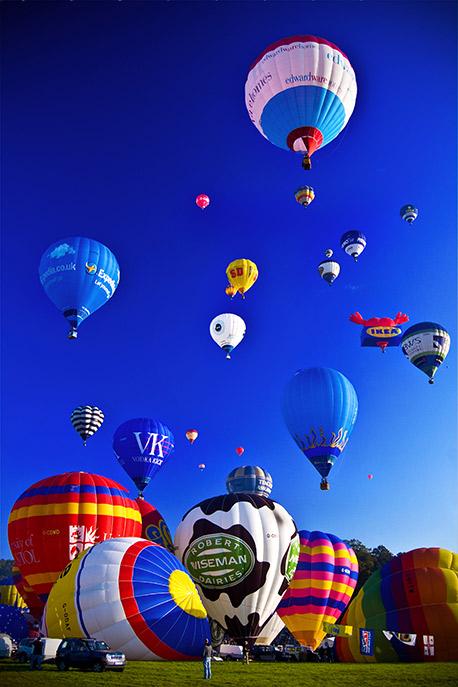 "Bristol Balloon Fiesta Photograph: ""Into the Blue"""