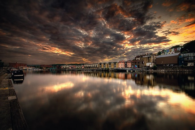 Baltic Sunset Bristol Harbour Docks