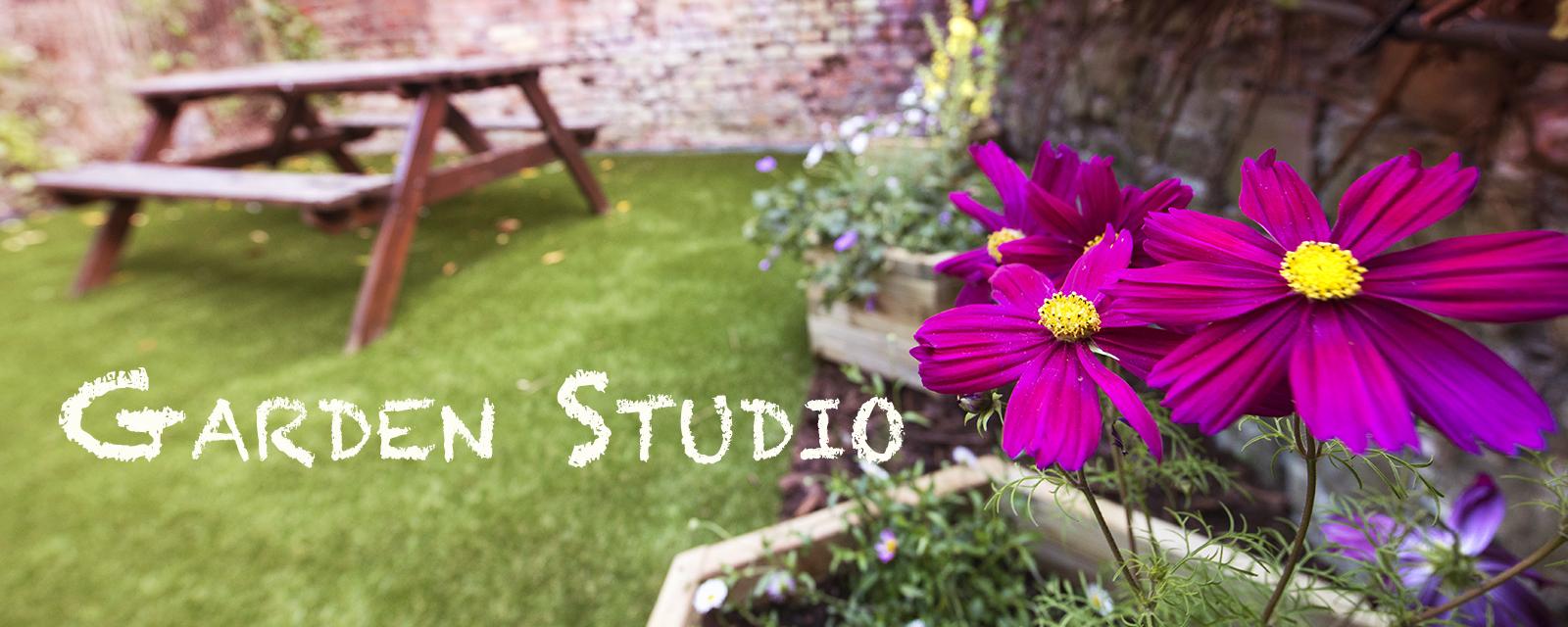 Natural light outdoor garden photography studio