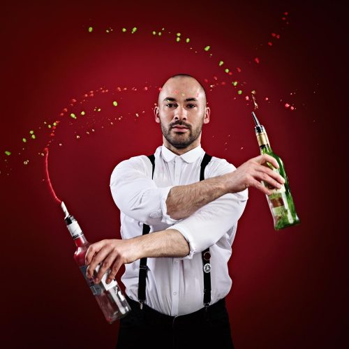 Bottled Bartender Flaring