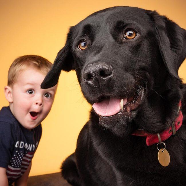 Black-labrador-and-baby-portrait