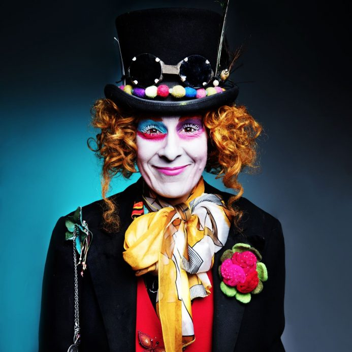 Picture of family photographer dressed as clown